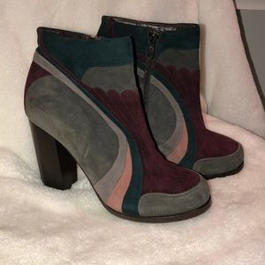 Antonio Marras unique suede heel ankle boot  9
